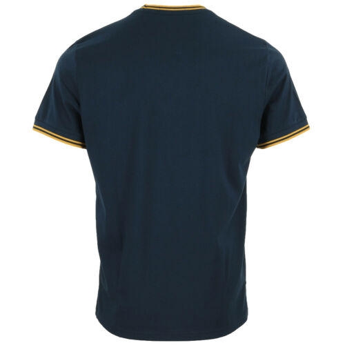 Kleidung Fred Perry Herren Twin Tipped T-Shirt blau