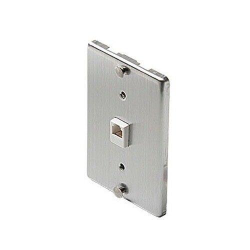 1// 630A Stainless Steel Wall Phone Jack 4C Mounting Plate w//Screw Terminals