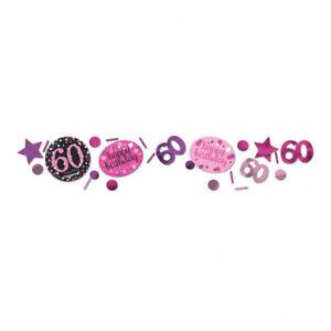 60 Geburtstag Party Deko Konfetti Rosa Tisch Deko Dekoration