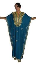 Kaftan Moroccan Caftan Women Arabian Beach Summer Long Dress Muslim Abaya Cotton