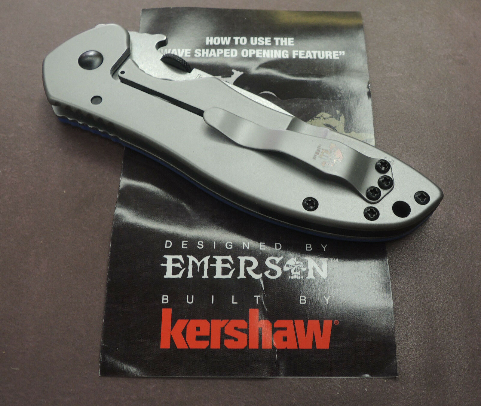 Kershaw Übungsmesser Messer E-TRAIN Messer Übungsmesser Kershaw Stumpf Emerson Design Trainingsmesser 5edd9d