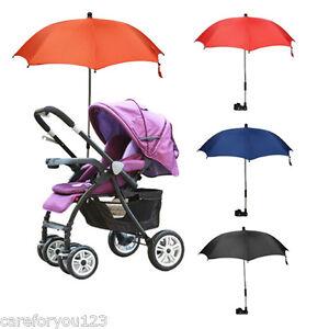 Image is loading Baby-Stroller-Wheelchair-Pushchair-Umbrella-Sun-Shade- Parasol-  sc 1 st  eBay & Baby Stroller Wheelchair Pushchair Umbrella Sun Shade Parasol Rain ...