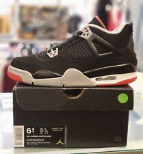 Nike Air Jordan 4 IV Retro Bred GS Youth 2019 Black Red Size 6y 408452 060