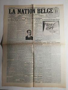 N331-La-Une-Du-Journal-La-nation-belge-31-octobre-1923-la-nation-belge-au-Congo