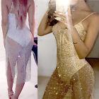 Sexy Sheer Long Boho Maxi Evening Party Dress Chiffon Dress Women Summer Beach