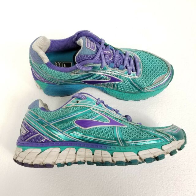 d9ea3b6b78f12 Brooks Adrenaline GTS 15 Womens Running Shoes Sz 6 Teal Blue Purple Silver  White
