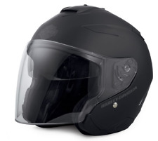 917c24f77 Harley-Davidson Maywood Sun Shield 3/4 Helmet Matt Black 98347-17ex ...