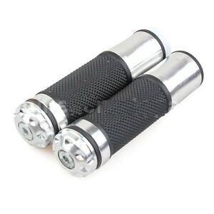 Brushed-Aluminum-Grips-Grip-Set-Beamer-Wolf-Wildfire-w-Simulated-Bar-SCOOTER