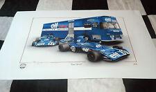 Tyrrell 003 Jackie Stewart Francois cervert Transporter F1 Nuevo Pintura Impresión 73