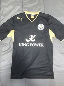 Men's Puma Leicester City 2012/2013 Away Kit Soccer Football Jersey Size S Black