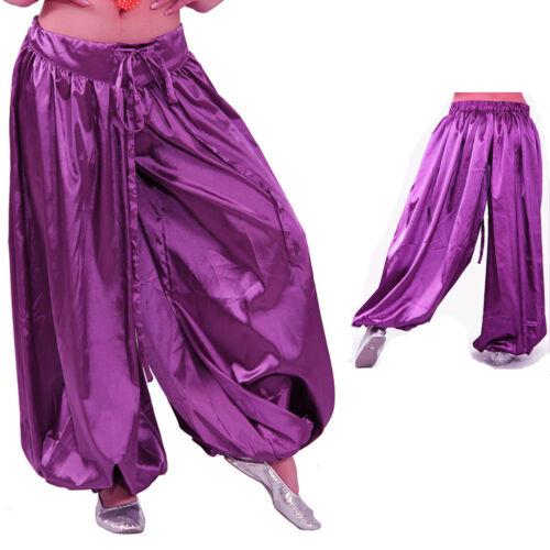 Lady /& Man Satin Harem Yoga Pants  Belly Dance Costume culture play dress Pants