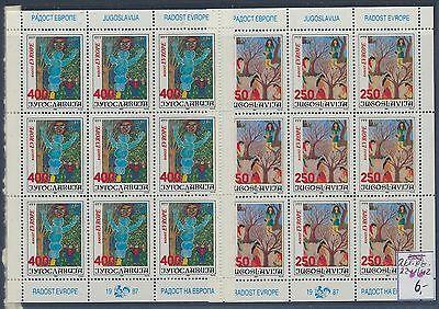 Ehrlichkeit Jugoslawien 2241/2242 Kleinbogen Postfrisch .................................... Europa Briefmarken
