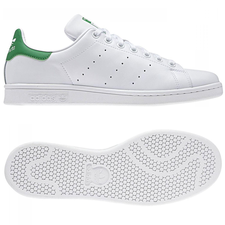 Adidas Originals Stan tamaños Smith Blanco Verde formadores tamaños Stan 7-12.5 Zapatillas Zapatos 0bc644