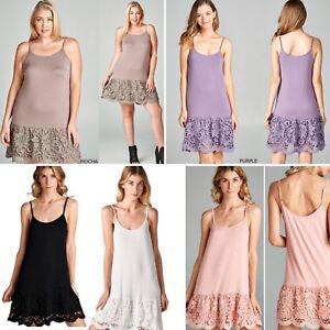 5478b033f956 Lace Dress Extender Slip Shirt Extender Cami ODDI White Black Peach ...