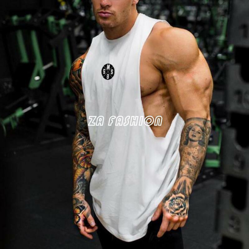 TECOFFER Men Bodybuilding Gym Muscle Sleeveless Tank Top Workout Fitnees Vest T-Shirt Size M-XXL