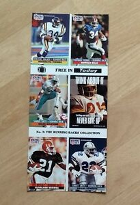 NFL Pro Set cards uncut 1991 039No2 The Running Backs Collection039 - <span itemprop=availableAtOrFrom>Bournemouth, Dorset, United Kingdom</span> - NFL Pro Set cards uncut 1991 039No2 The Running Backs Collection039 - Bournemouth, Dorset, United Kingdom