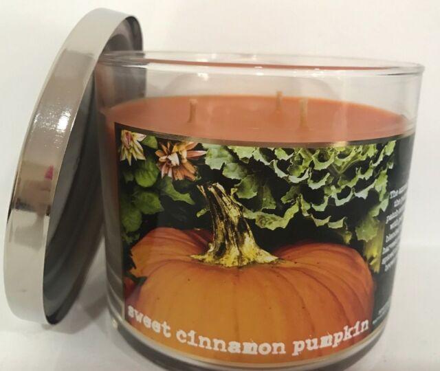 Sweet Cinnamon Pumpkin Bath Body Works 3 Wick 14 5 Oz Candle Clove Vanilla