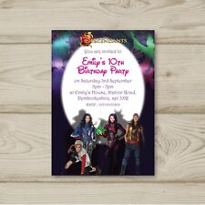 Disney Descendants Birthday Party Invitations Personalised