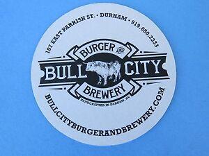 Bière Dessous De Verre ~ Taureau Ville Burger & Brewery~ Durham, Nord Caroline~ Qngjfnip-08005922-619295620