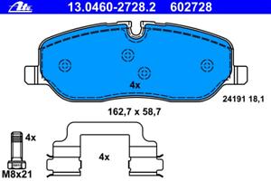 Bremsbelagsatz Scheibenbremse ATE 13.0460-2728.2