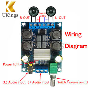 TPA3116-D2-50W-50W-Dual-Channel-DC4-5-27V-Digital-Power-Amplifier-50Wx2-Stereo
