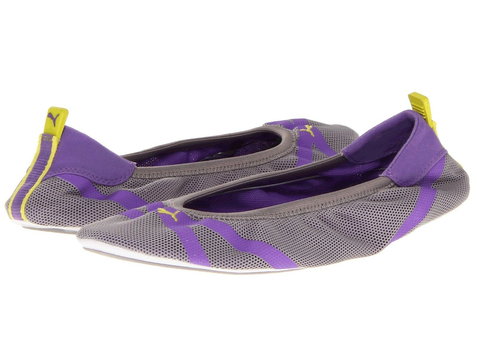 NEW Puma Axel Ballet Slip On Ballerina Shoes 8 Gray Purple Purple Gray FREE EXPEDITED MAIL cc497f
