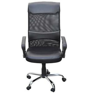 360-Degree-Swivel-Executive-High-Back-Mesh-Computer-Office-Chair-PU-Leather