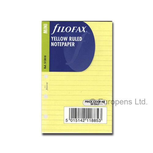 Filofax Mini Organiser Paper Inserts Refills