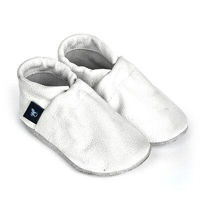 Baby Krabbelschuhe Leder Taufschuhe in Unifarben Pantau Kinder Lederpuschen