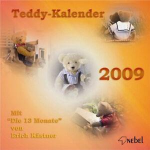 Teddy-Kalender-2009-Kalendarium-wie-2015-NEBEL-Verlag-OVP-Erich-Kaestner-Text