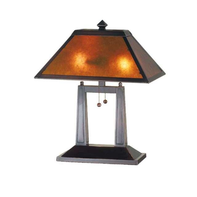 Meyda Lighting 20 H Van Erp Amber Mica Oblong Table Lamp 24216