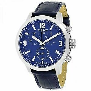 bee2e9066 Tissot Analog Sport Watch PRC 200 Chronograph Blue Mens T0554171604700
