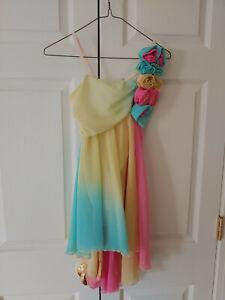 Girl Costume Gallery Yellow Pink Blue Dance Ballet Lyrical Costume Dress Size LC