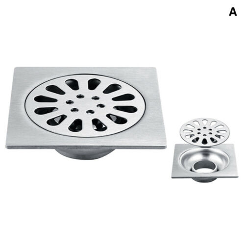 Bathroom Stainless Steel Floor Drain Shower Drainer Drain Cover Thickened