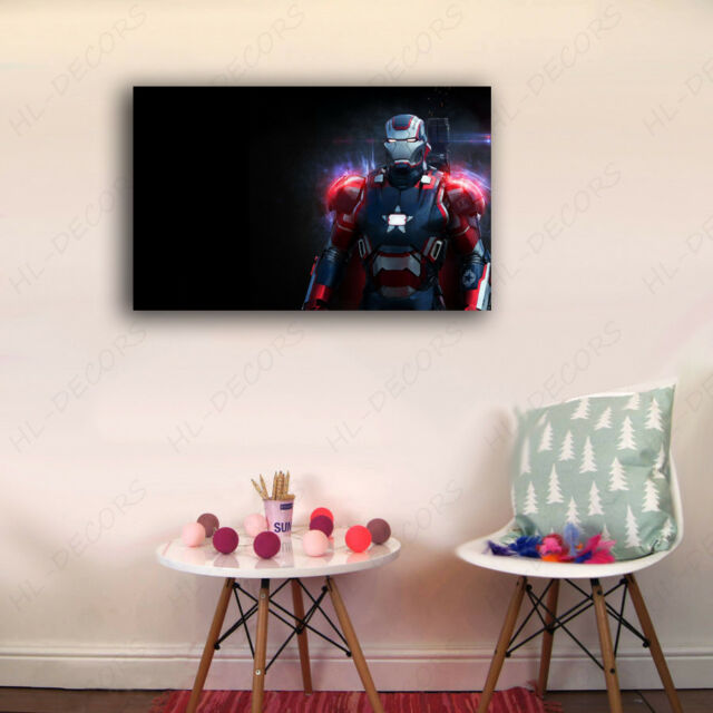 30×50×3cm Framed Canvas Prints Super Hero Iron Man Red Wall Art Home Decor Gift