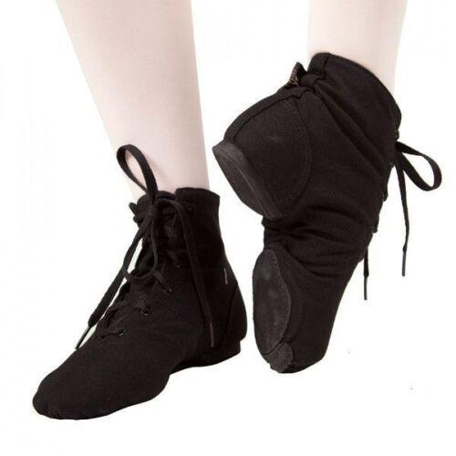 11 Dance Hip Hop NEW Sansha Soho JB3 Black unisex Canvas Jazz Boot Sizes 5