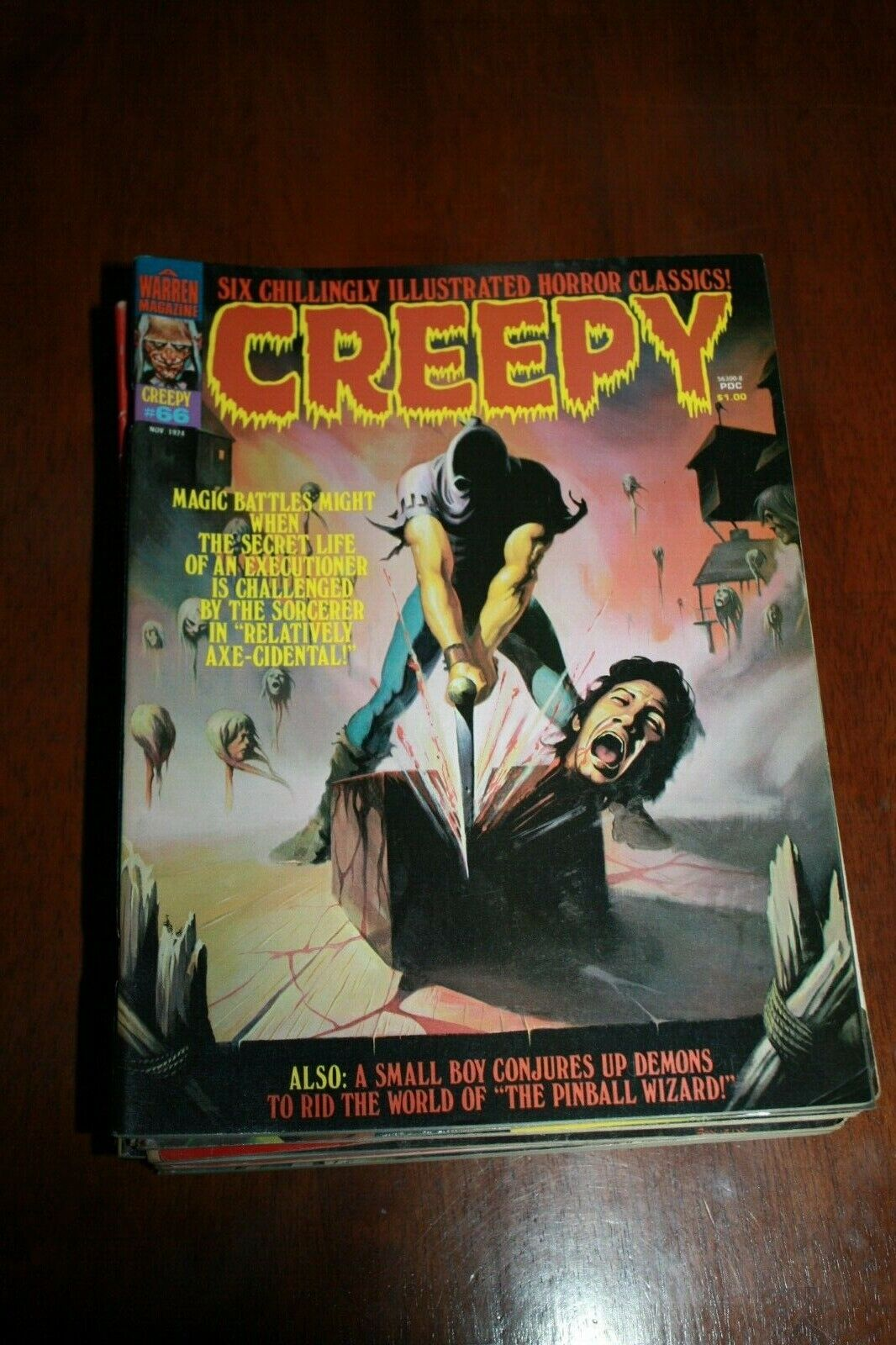 CREEPY MAGAZINE NO. 66 IS IN NEAR MINT CONDITION AND IS BAGGED AND BOARDED