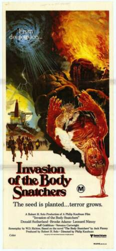 INVASION OF THE BODY SNATCHERS Movie POSTER 11x17 D Leonard Nemoy