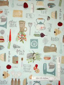 Mixer-Farm-Kitchen-Farmhouse-Cotton-Fabric-Wilmington-Freshly-Picked-By-The-Yard