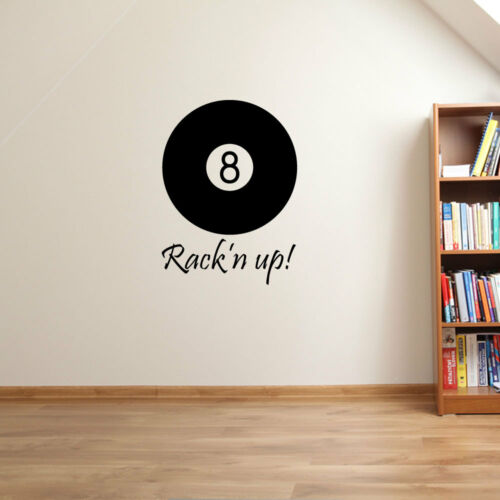 Poolball Pool Cue Table 9 Ball American Pocket Colourful Wall Stickers New A66