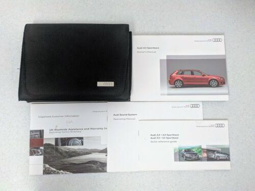 GENUINE AUDI A3 SPORTBACK 2008-2012 HANDBOOK OWNERS MANUAL WALLET AUDIO K-639