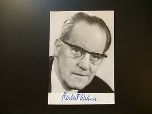Autogramm Autograph HERBERT WEHNER SPD Vorsitzender 1969-1983 (ph1-1)