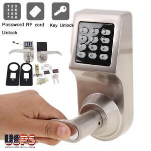 Electronic Keyless Keypad Security Entry Smart Door Lock Security + RF Card