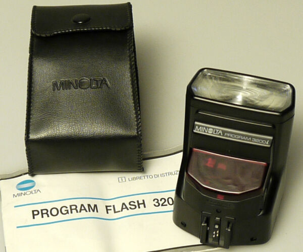 (prl) Flash Minolta Program 3200i Pezzi Ricambio Ricambi Spare Part Custodia
