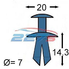 50x 7 Mm Plastic Trim Clips Para Subaru Rueda Arco Forros /& Motor Bay cubre