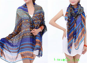 Women-039-s-Fashion-Long-Soft-Wrap-Shawl-Silk-Chiffon-Scarf-Scarves