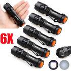 6X Mini CREE Q5 7W 5000Lm Adjustable LED Flashlight Torch Lamp LOT Zoom Light