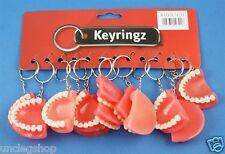 Novelty False Teeth Key Rings/Bag Charms