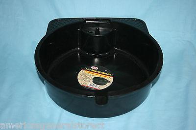 8.5 quart OIL DRAIN PAN spout PLASTIC change your own oil save money BLACK