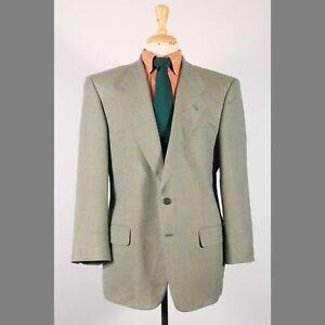 Petrocelli 44R Green Check Silk Blend Two Button Sport Coat Blazer Jacket